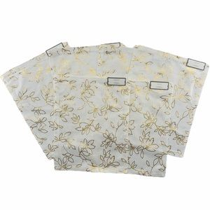 NWT Set of 6 Threshold Cotton Gold Foil Placemats